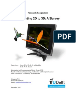 Research Assignment Qing Qing Wei - A Survey of 2D to 3D Conversion Algorithms