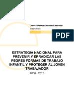 Colombia. Estrategia nacional para prevenir y erradicar las peores formas de trabajo infantil y proteger al joven trabajador – 2008 – 2015