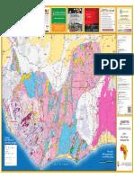 GEOLOGICAL MAP OF WEST AFRICA - Côte d'Ivoire, Burkina Faso, Ghana, Mali, Guinea, Liberia