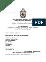 Analisis Juridico de La Ley Especial de Delitos Contra El Medio Ambiente