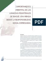 El Comportamiento Medio Ambiental de Las Empresas Industriales de Ibagué- Una Mirada Desde La Responsabilidad Social Empresarial. Rubio y Rosero