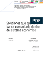 Ensayo Banca Comunitaria