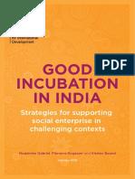 NESTA DFiD Good Incubation in India