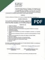 Convocatoria Gustavo Diaz Ordaz 30 de Abril