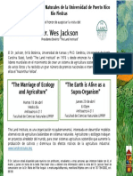 Invitacion Charlas Wes Jackson