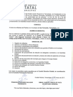 Convocatoria San Fernando 30 de Abril