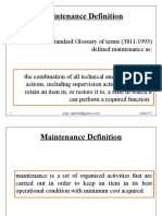 LEC1 Maintenance Definition