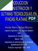 PRODUCCION y Admon de Tecnologias en Fincas Plataneras Nicolas Gallego