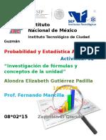 Investigación de Fórmulas y Conceptos de La Unidad