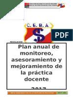 Plan de Monitoreo CEBA Santa Isabel de Huancayo