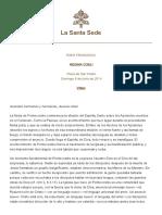 Papa Francesco Regina Coeli 20140608