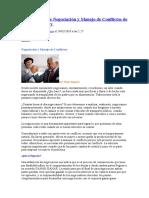 Las Técnicas de Negociación y Manejo de Conflictos de Fisher y Ury