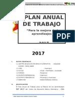 Plan Anual de Trabajo 2017 CEBA Santa Isabel de Huancayo