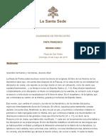 Papa Francesco Regina Coeli 20150524