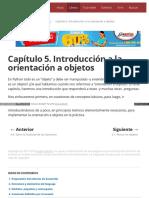 Capítulo 5. Introducción a La Orientación a Objetos