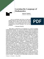 Learning the Language of Mathematics