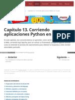 Capítulo 13. Corriendo Aplicaciones Python en La Web