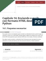 Capítulo 14. Enviando E-mails Con Formato HTML Desde Python