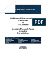 House Judiciary Committee Contact List - All Members & District Offices Phones & Faxes - March 2017