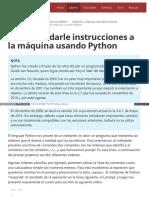 1.3. Cómo Darle Instrucciones a La Máquina Usando Python