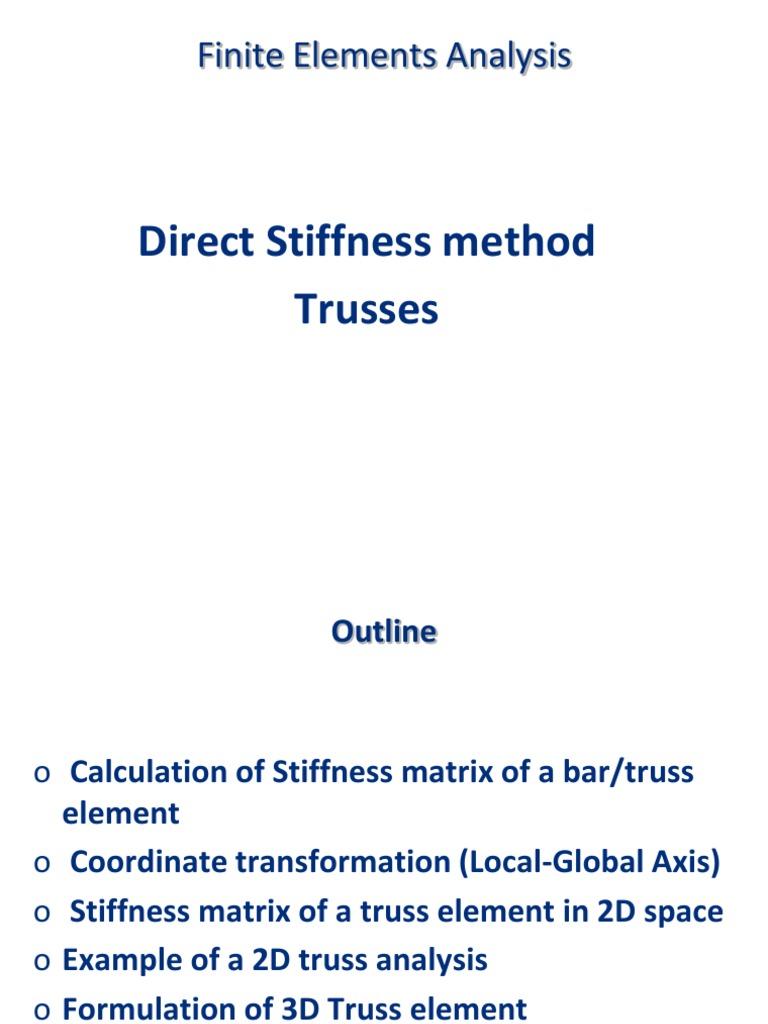 3d stiffness matrix