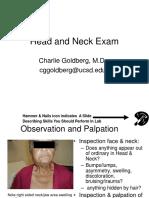 Px Head neck exam