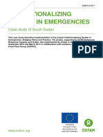 Institutionalizing Gender in Emergencies