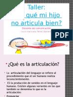 Presentacion Taller Articulacion