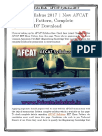 AFCAT Syllabus 2017 | New AFCAT EKT Exam Pattern, Complete Syllabus PDF Download