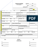 Marriage License App