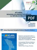 Atlasul Resurselor Energetice Eoliene Al Republicii Moldova