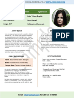 Marriage Biodata Doc Word Formate Resume
