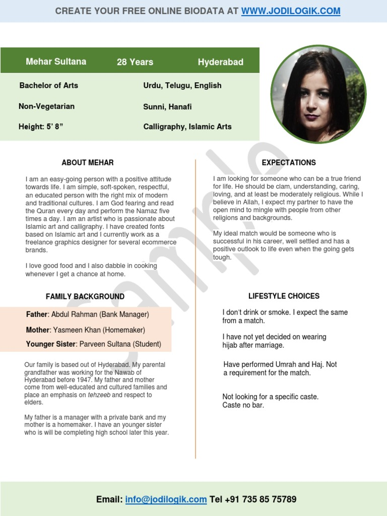 marriage biodata format for christian girl catholic church