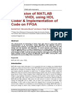 HDL Coder and Matlab