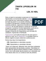 Importanta Lipidelor in Alimentatie-ldl;Hdl
