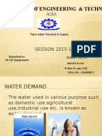 Water Demand Nd Supply