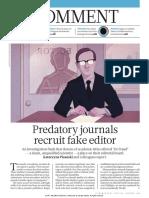 Predatory Journals Recruit Fake Editor