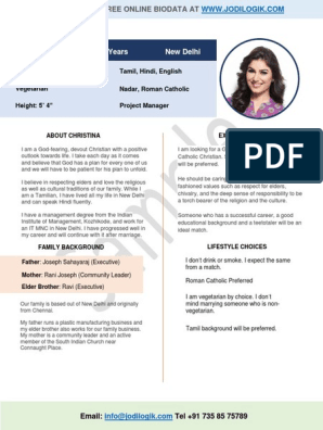 Marriage Biodata Format For Christian Girl Marriage Religion