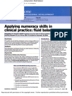 Applying Numeracy Skills in Clinical Practice Fluid Balance