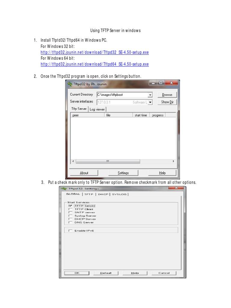 Using_TFTP_Server_in_Windows pdf | Booting | Computer File
