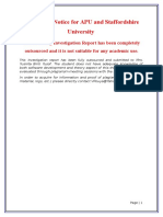 APU Staffordshire Final Year Project (FYP) Plagiarism Notice