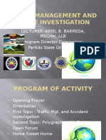 Traffic Management and Accident Investigation