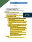 Recomendaciones para la elaboración de la Memoria de Prácticas