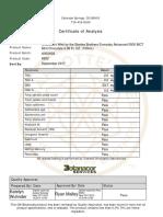 CW Hemp Extract Lab Reports