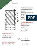 Mech Diploma Design of Power Screw
