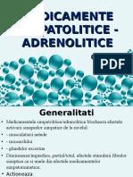 Curs 4 Simpatolitice Adrenolitice 2017