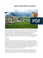 Information About Tourist Places in Jammu and Kashmir