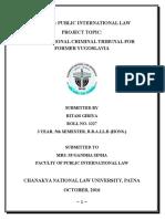 Project on International Criminal Tribunal for Former Yugoslavia (ICTY)