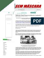 Mídia Sem Máscara - Método Laubach Ou Método Paulo Freire