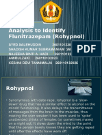 Analysis Rohypnol